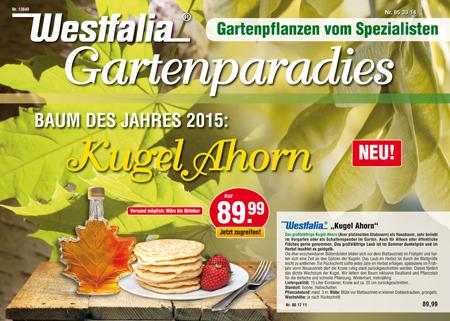 Westfalia Gartenkatalog und Pflanzenkatalog